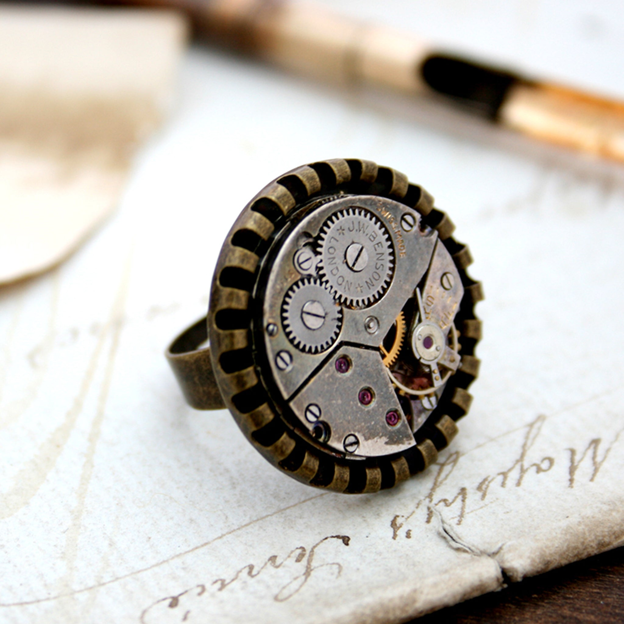 Steampunk Ring in Bronze