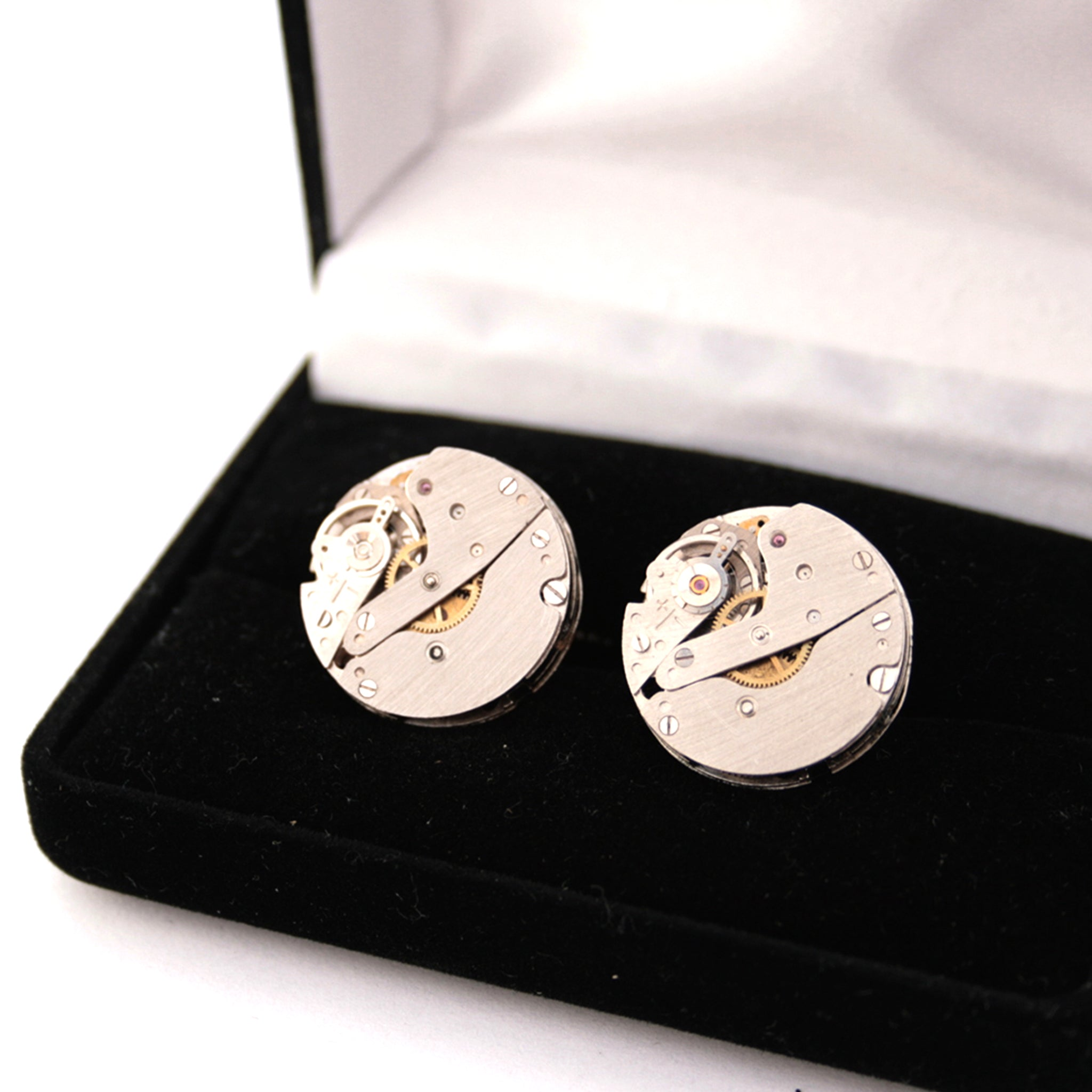 Novelty Cufflinks made of Watch Movements