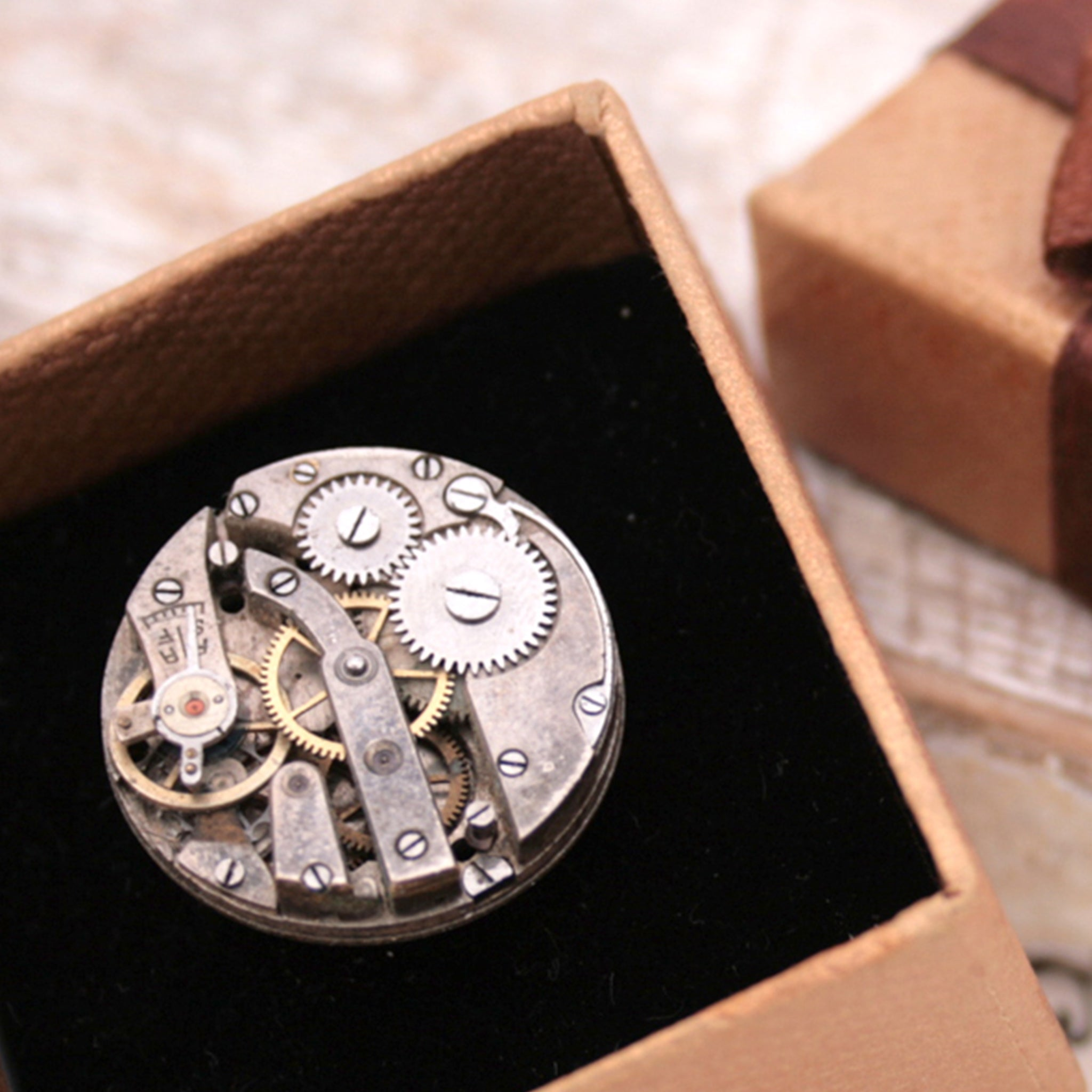 steampunk ring in a box