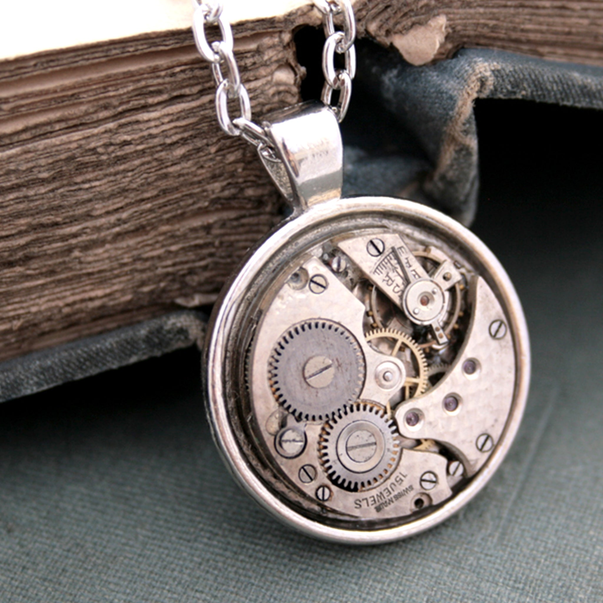 Mens Necklace with Watch Work