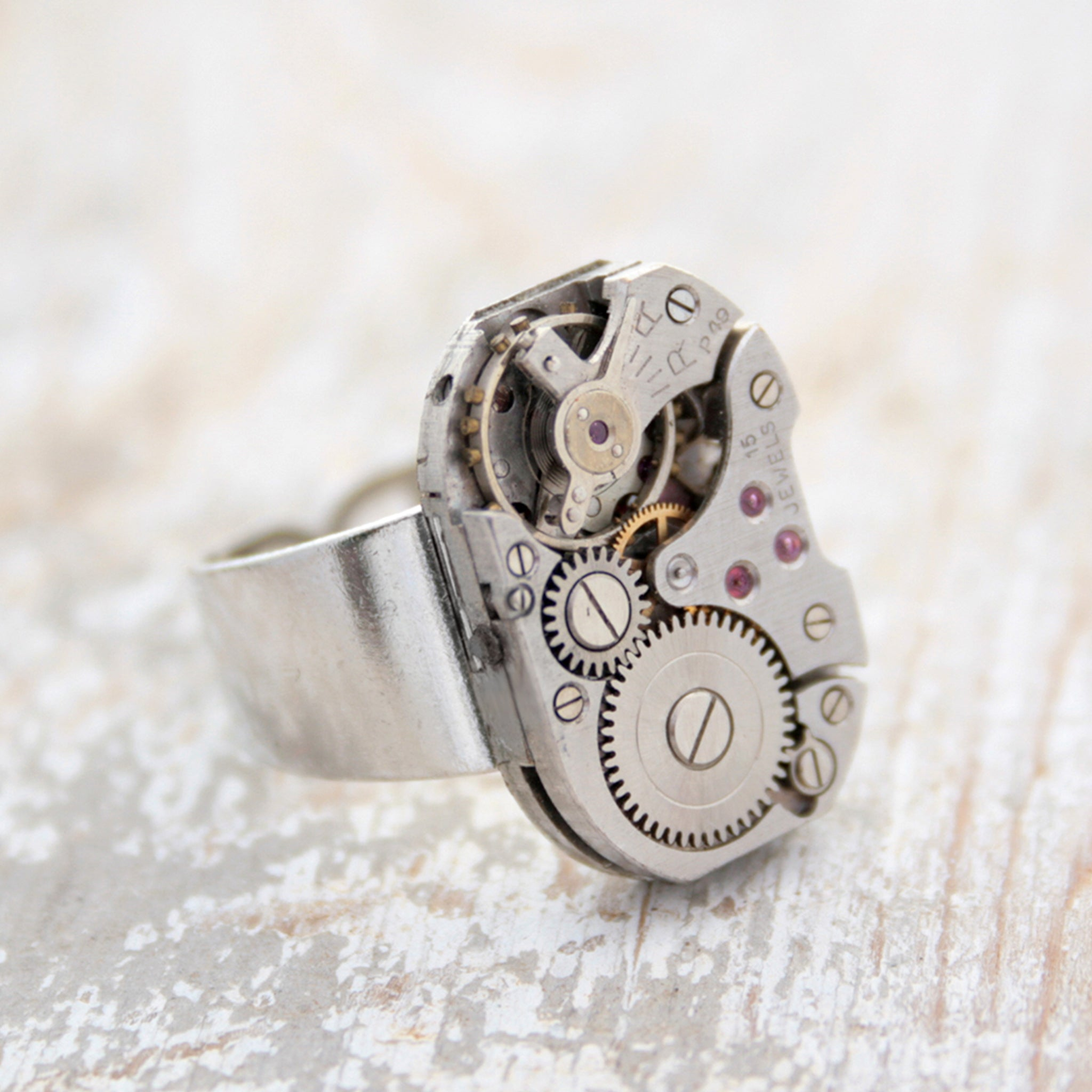 Steampunk Mens Pinky Ring