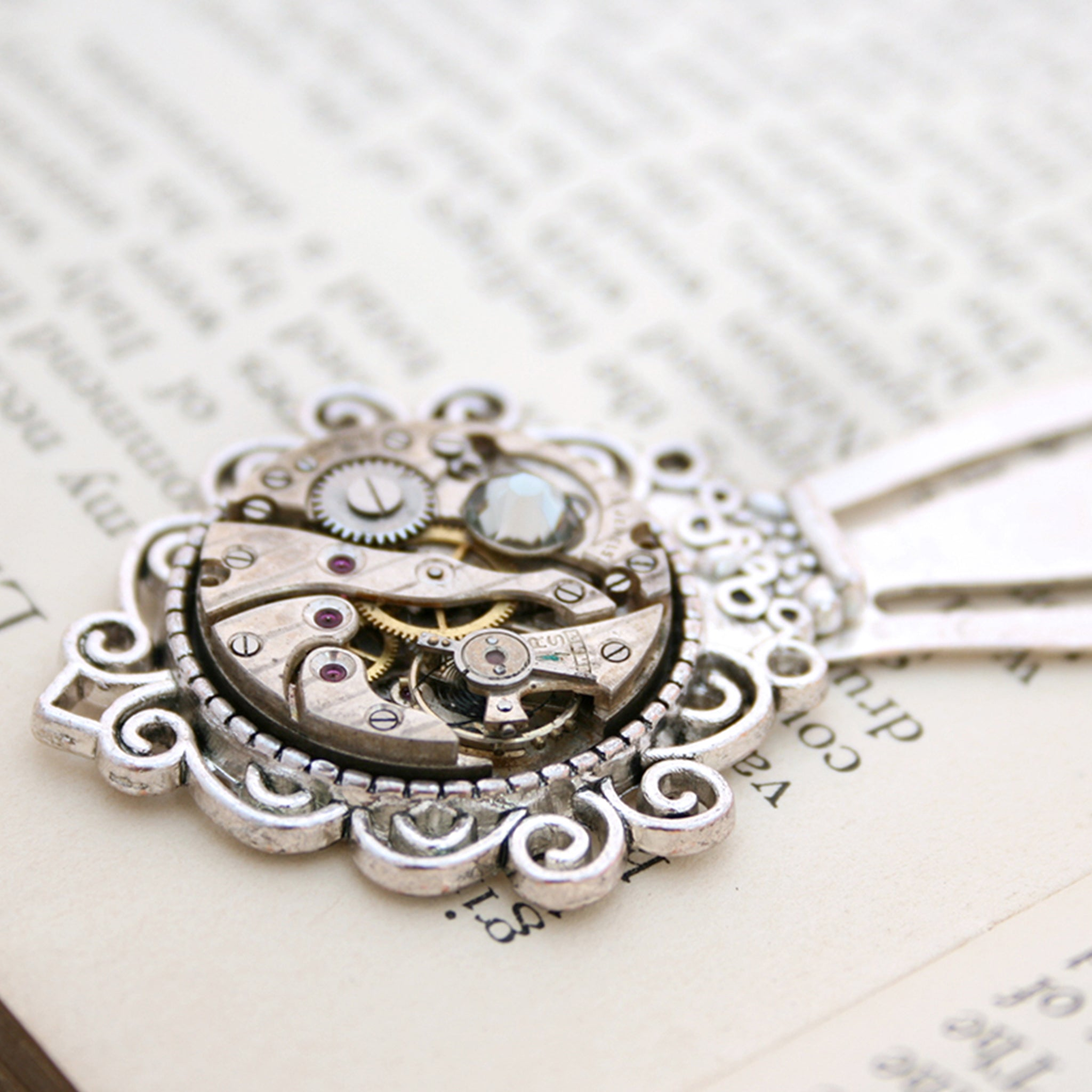 Bookmark with crystal