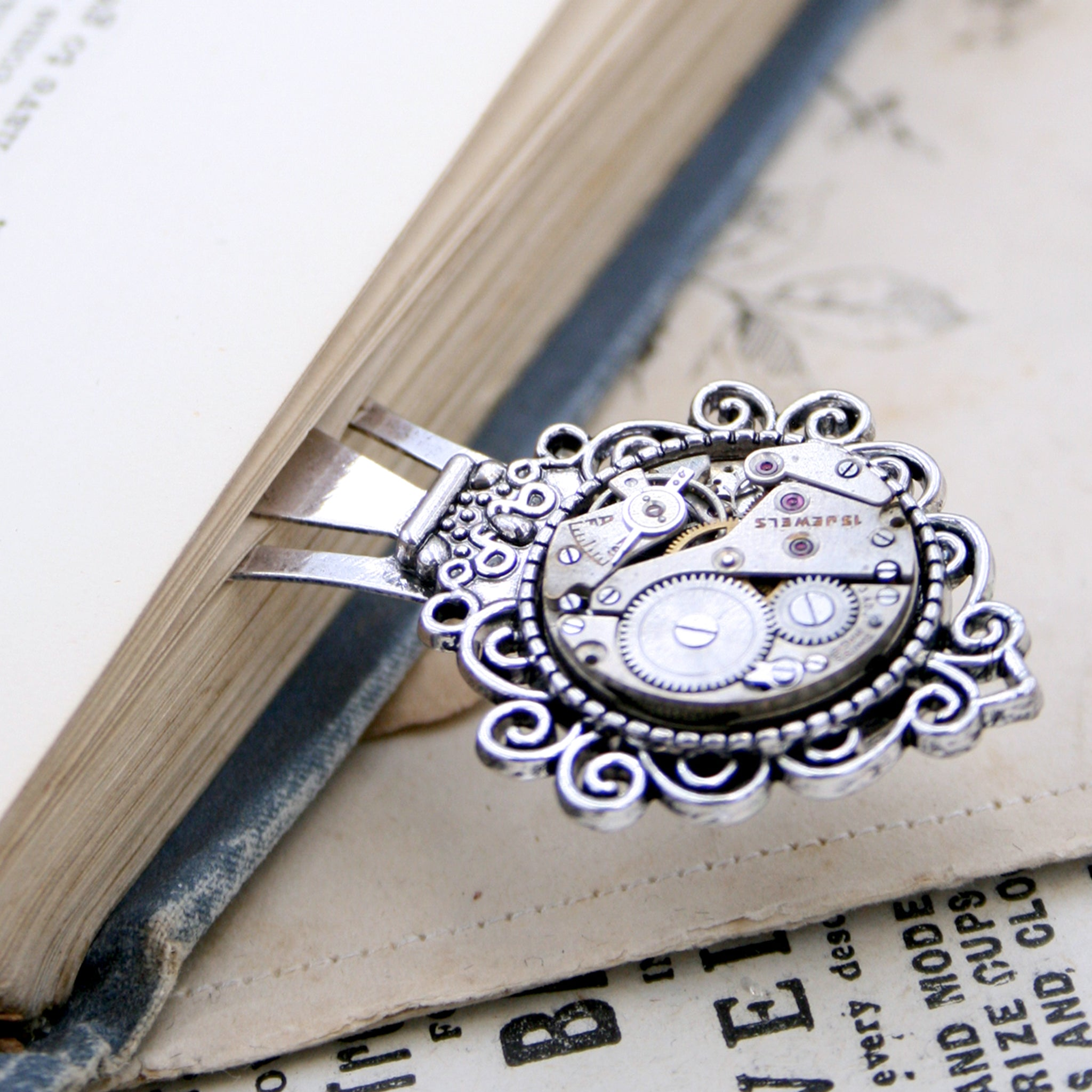 Cool, steampunk bookmark for a bookworm