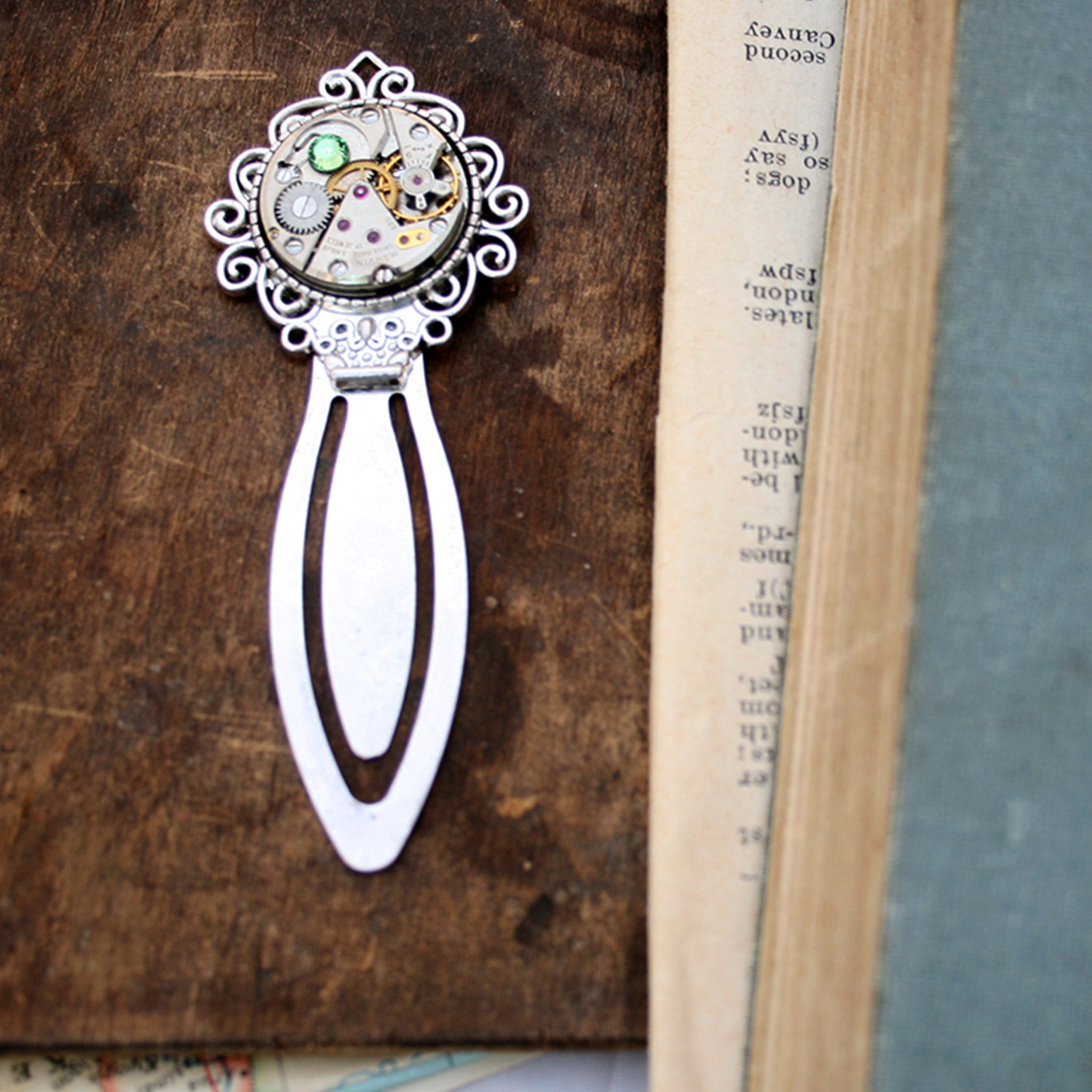Steampunk watch movement Bookmarks for books