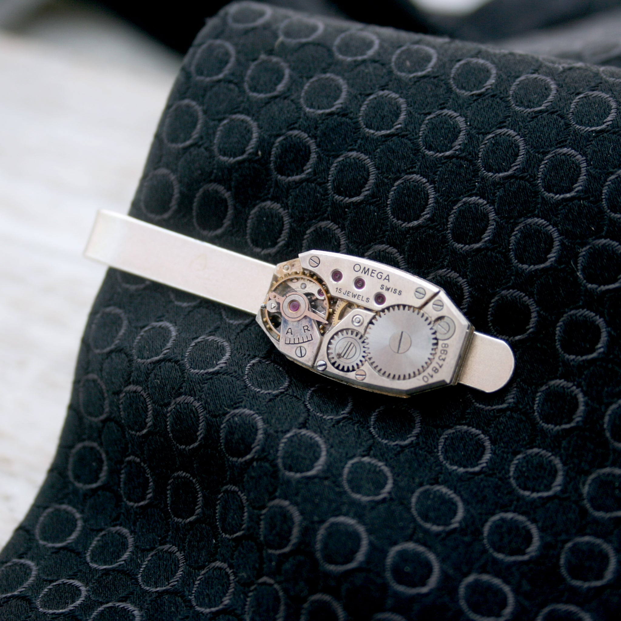Omega Watch Sterling Tie Clip