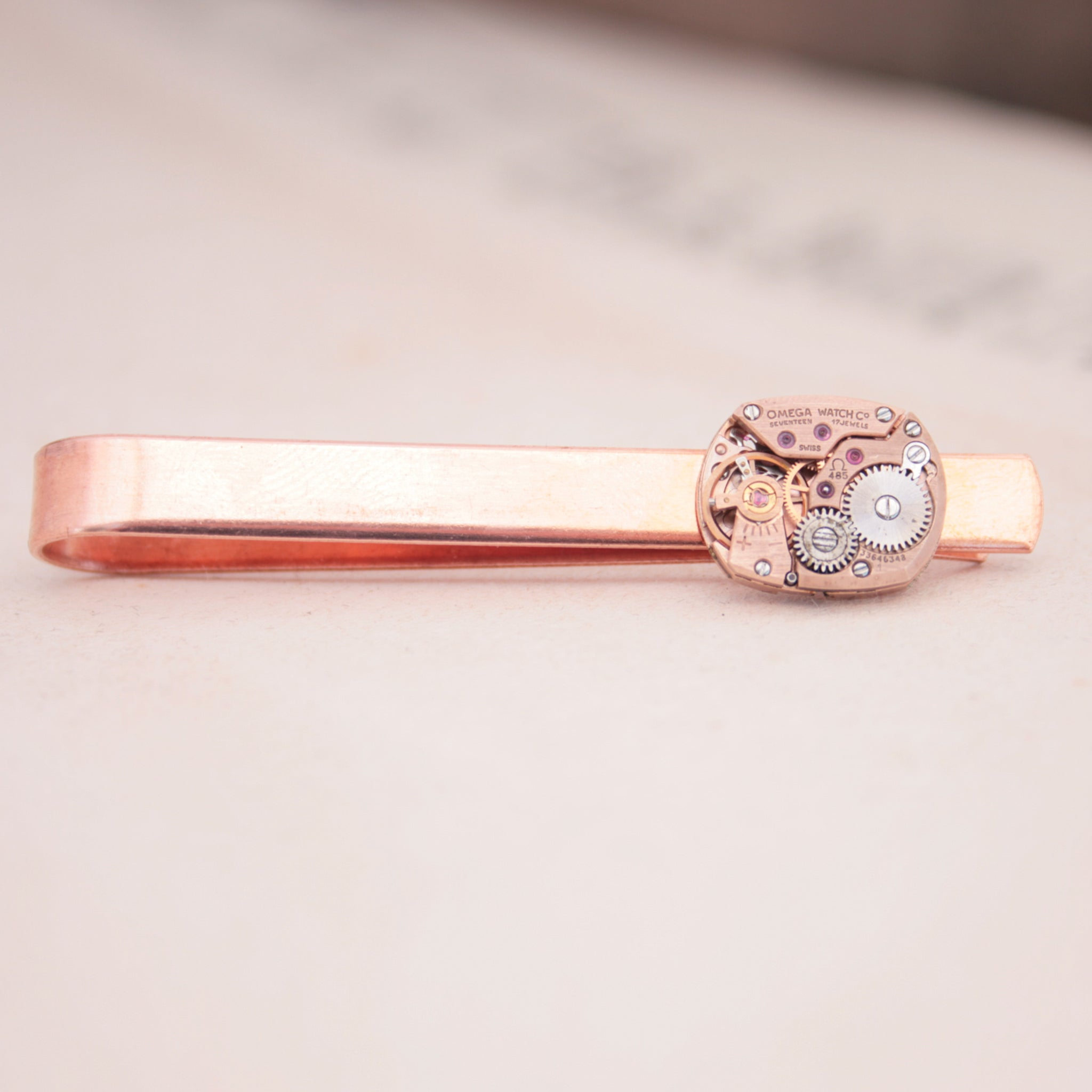 Omega Watch Copper Tie Clip