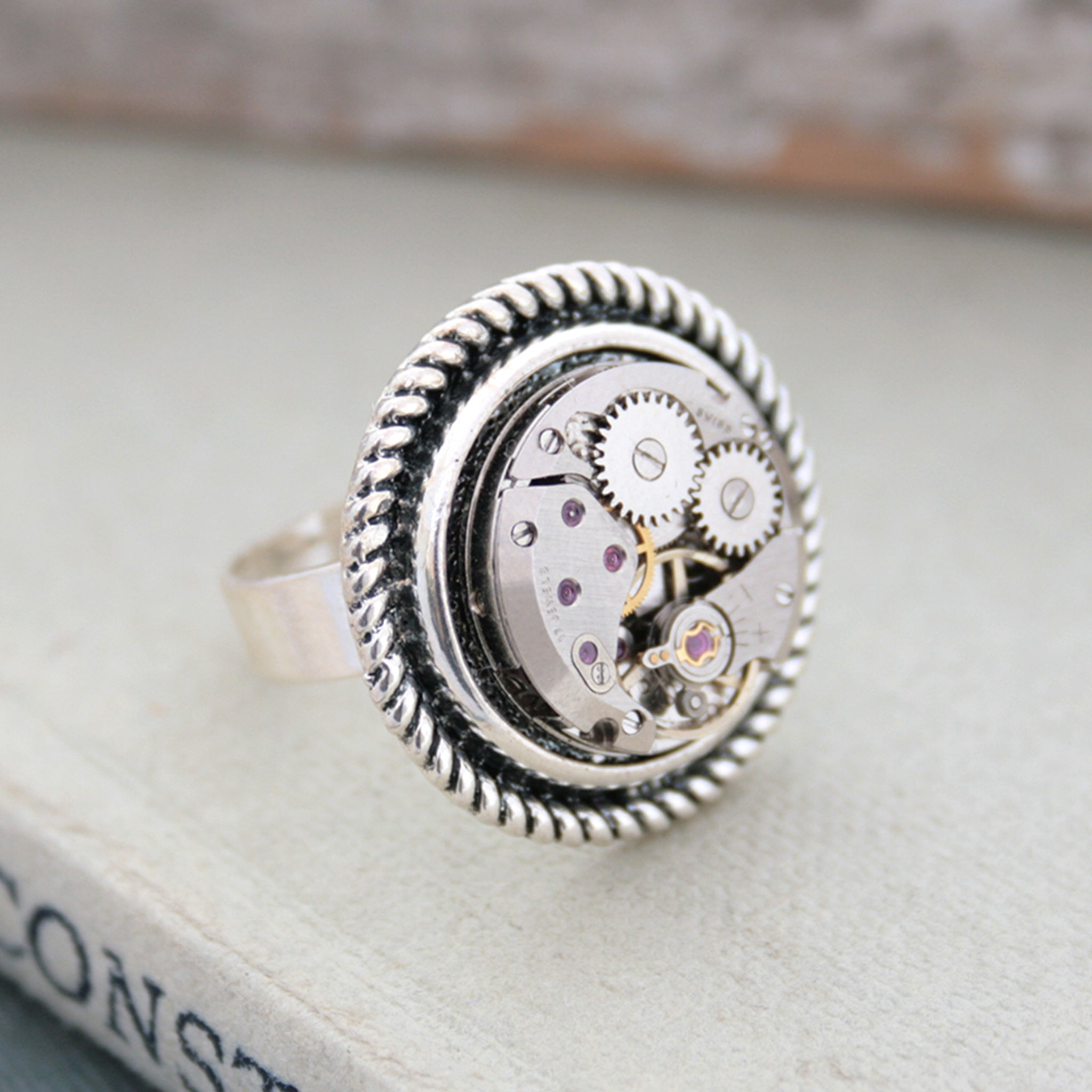 Steampunk Ring for Her