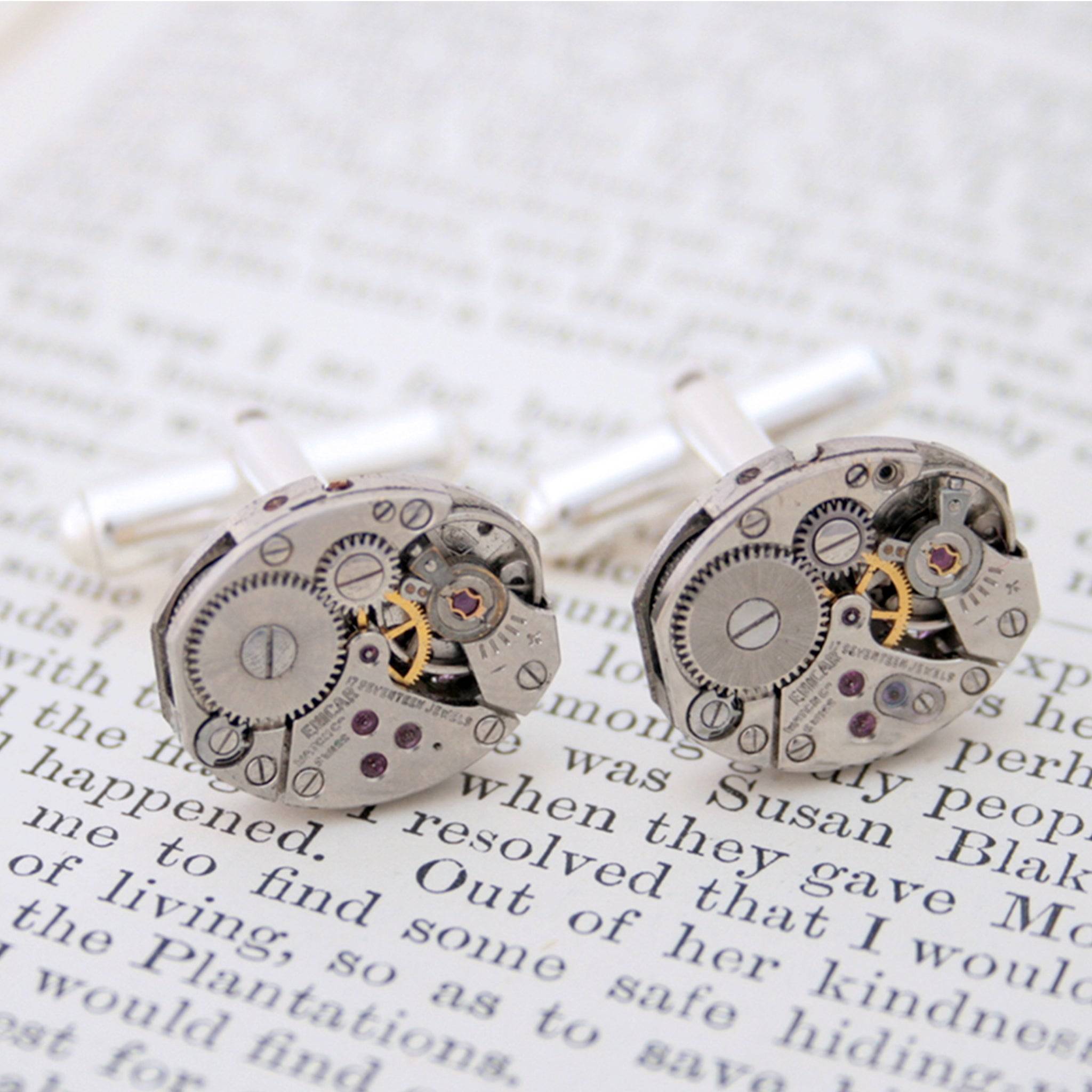 Steampunk Cufflinks in Silver