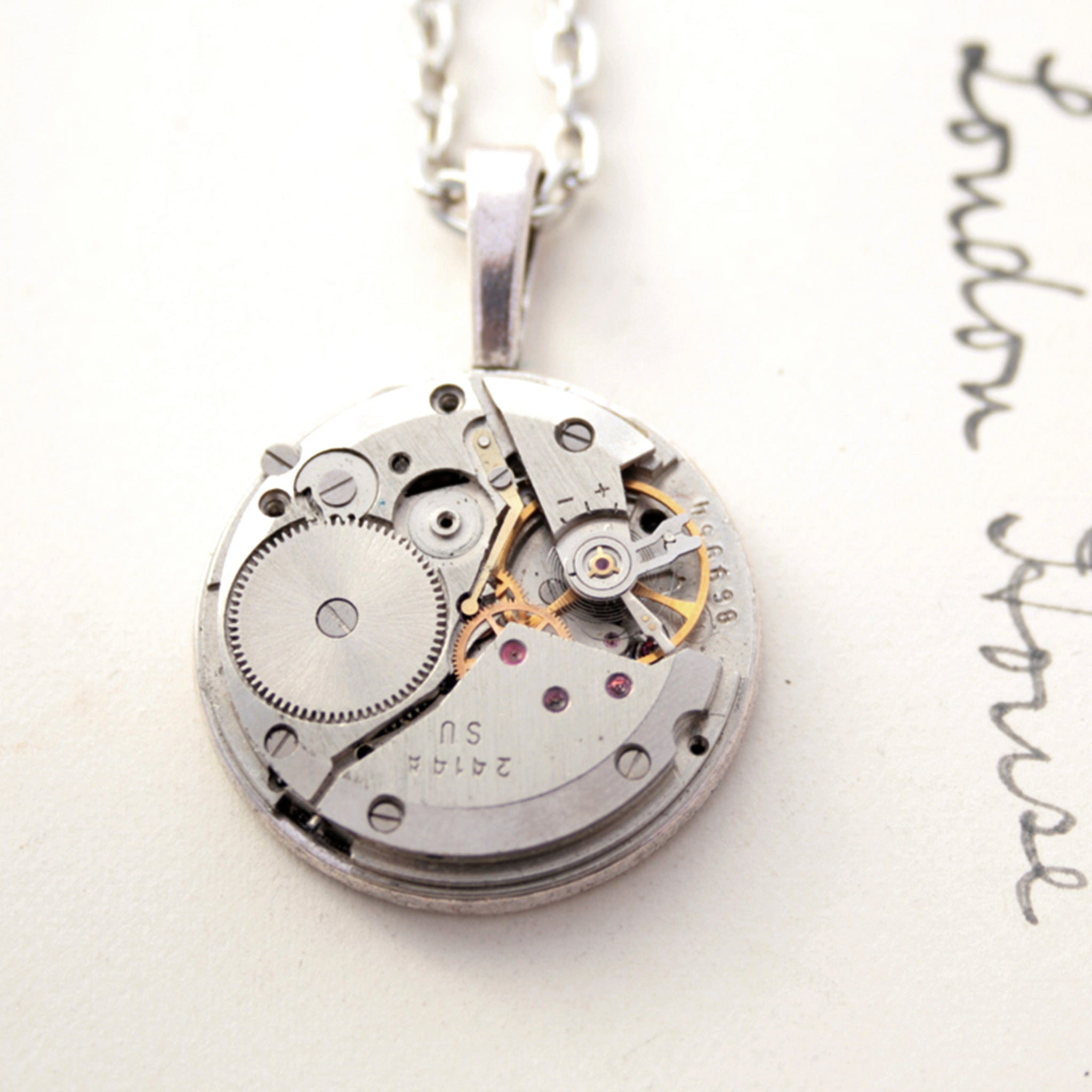 Steampunk Pendant Necklace for Bride
