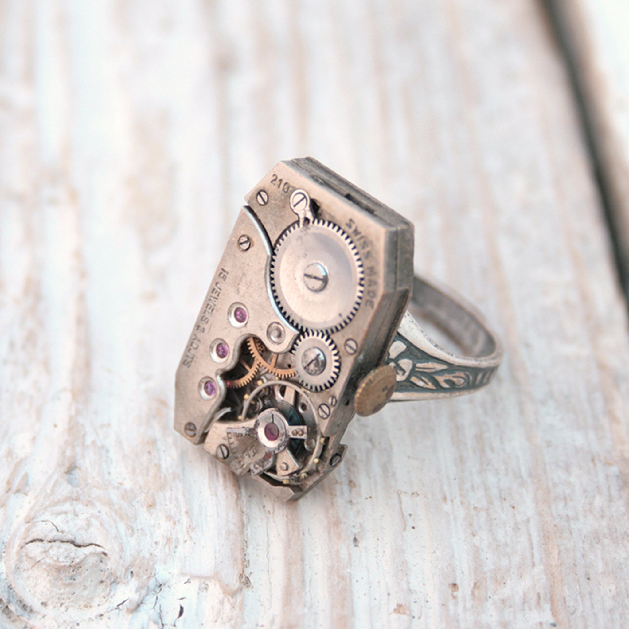 Rectangular Steampunk Ring
