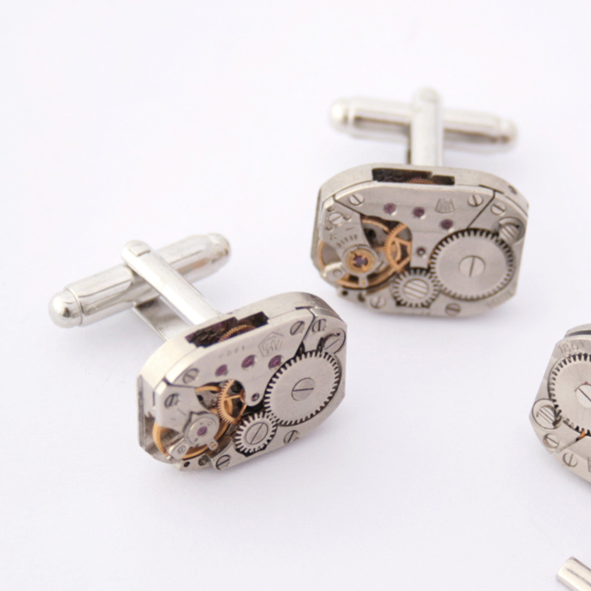 Steampunk Cufflinks made of watch movements