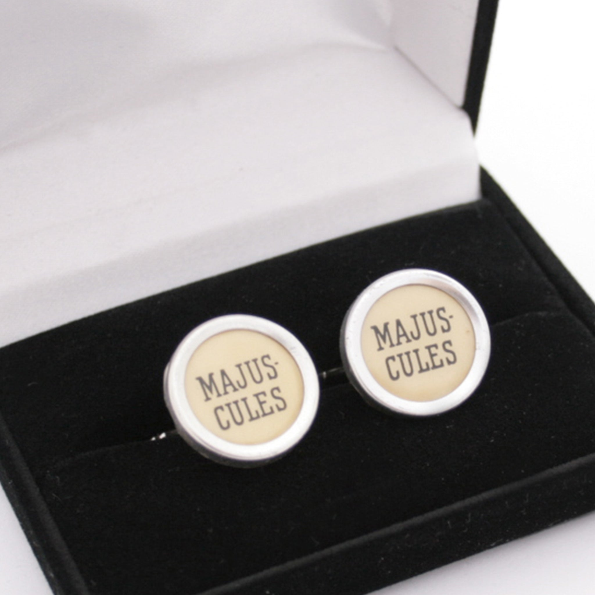 Ivory Typewriter Key Cufflinks