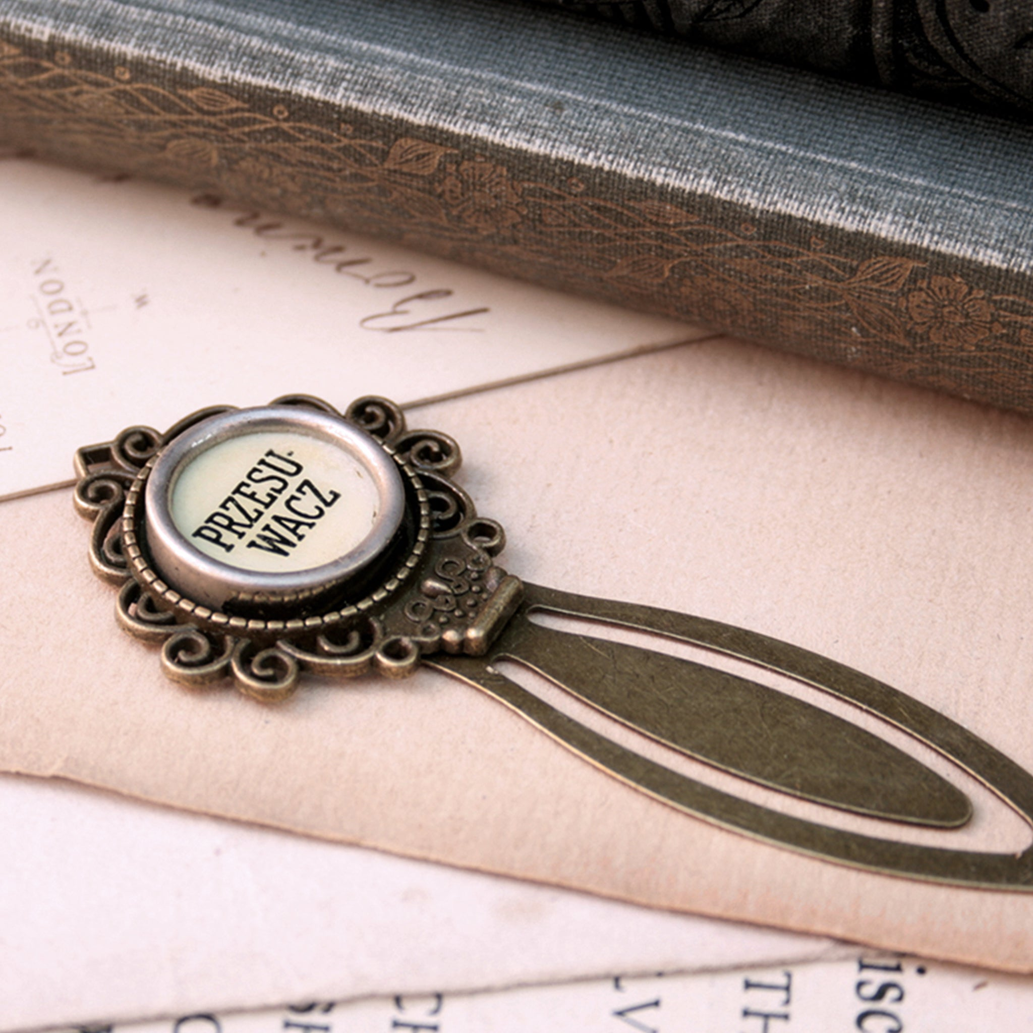 Foreign Typewriter Key Bookmark