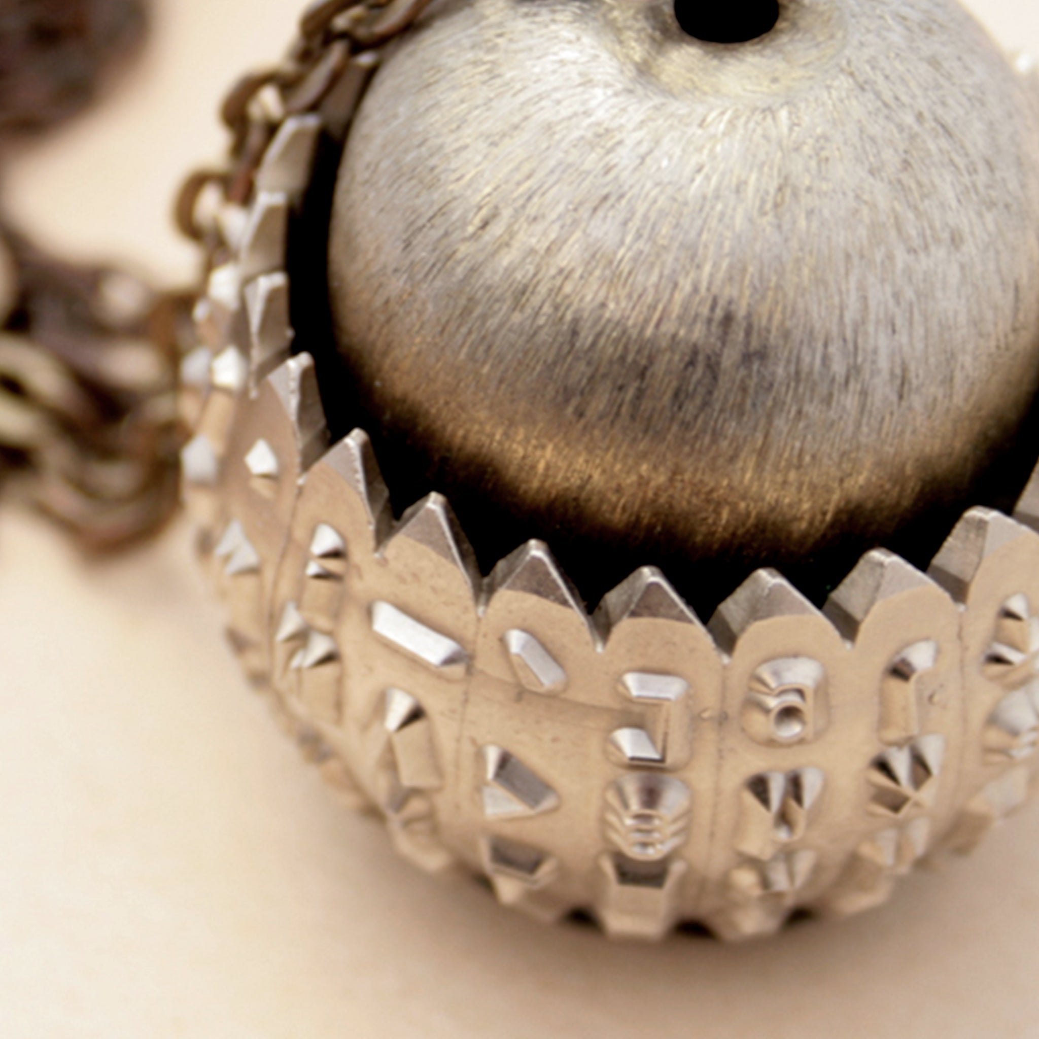 statement typewriter necklace made of IBM Selectric typeball