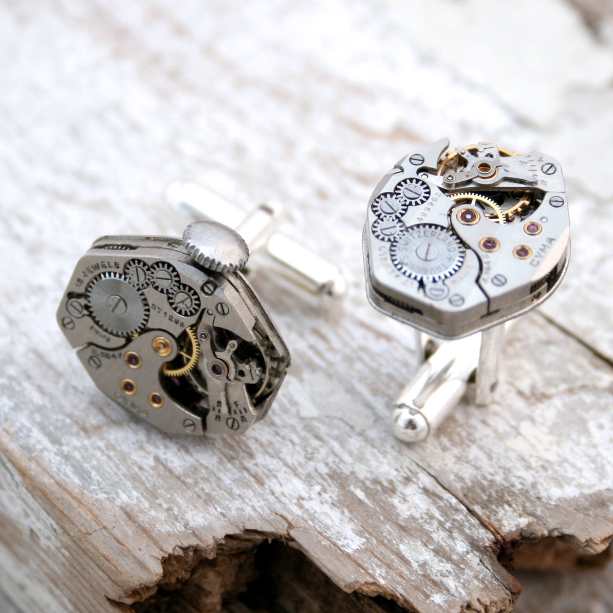 Watch Cufflinks in Sterling Silver