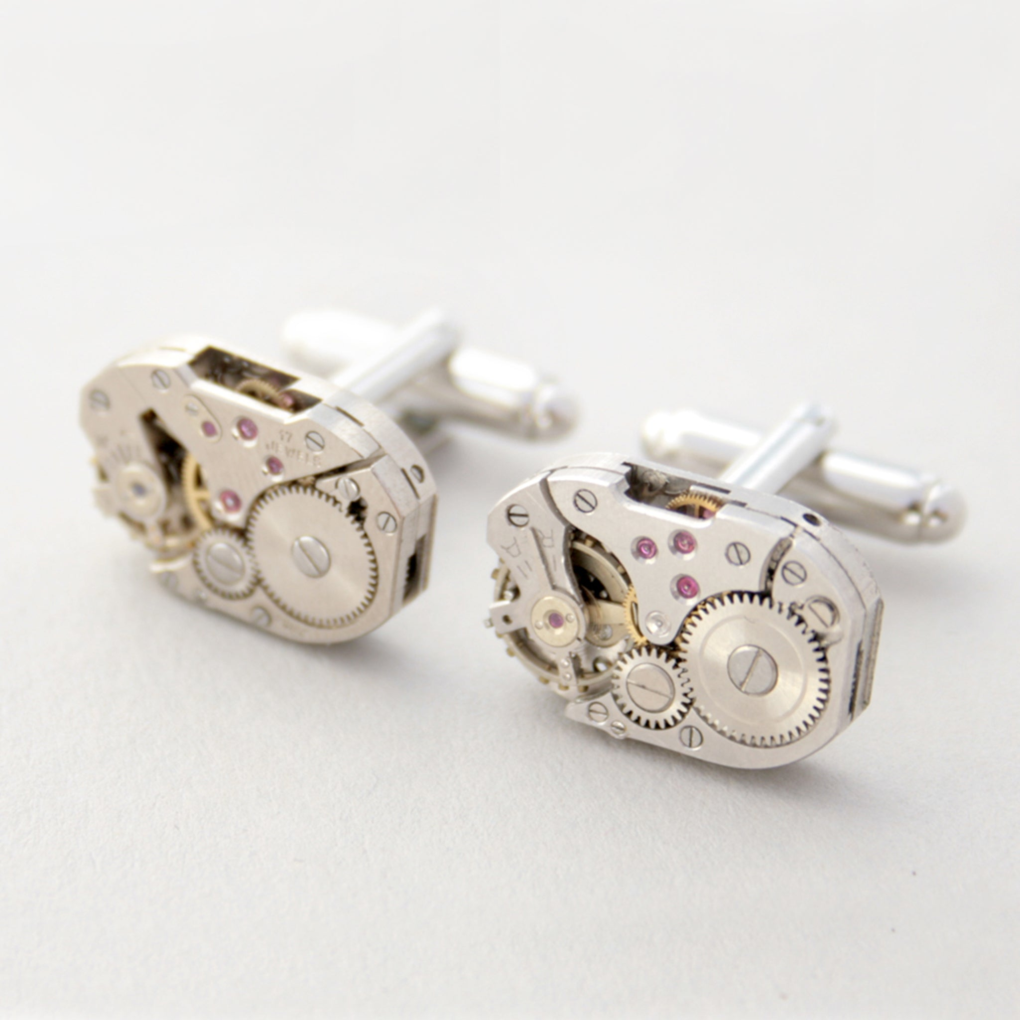 Wedding Cufflinks in Steampunk Style made of watch movements