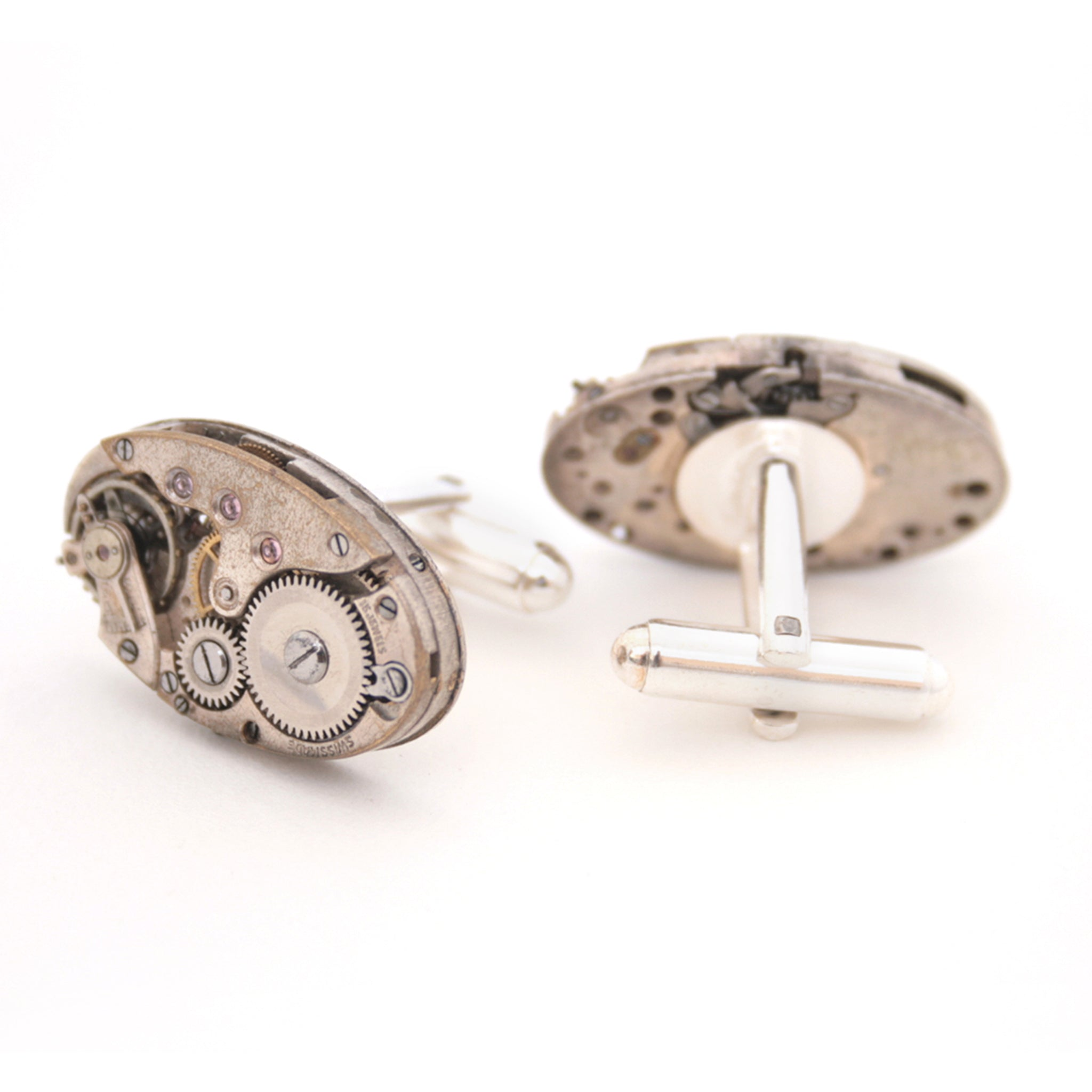 Wedding Cufflinks in Steampunk Style