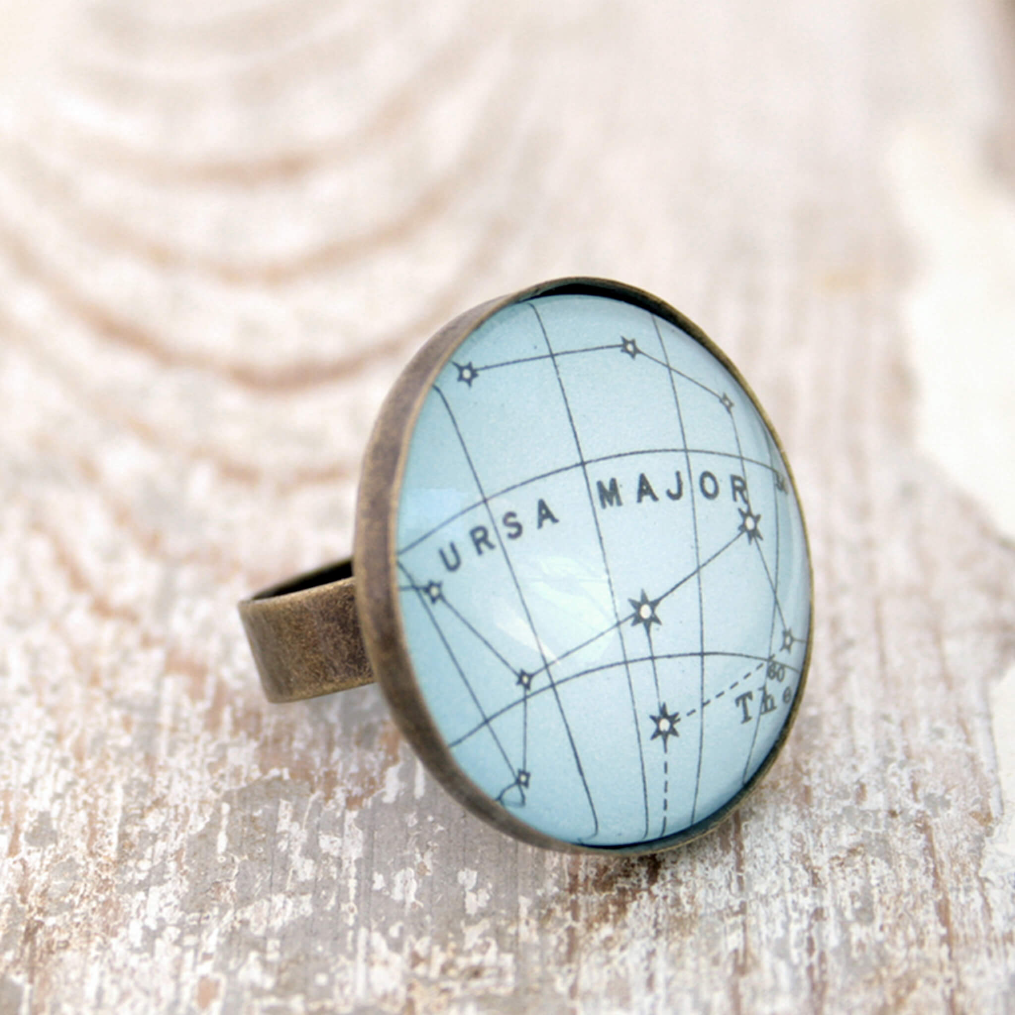 Ursa Major Constellation ring in bronze color