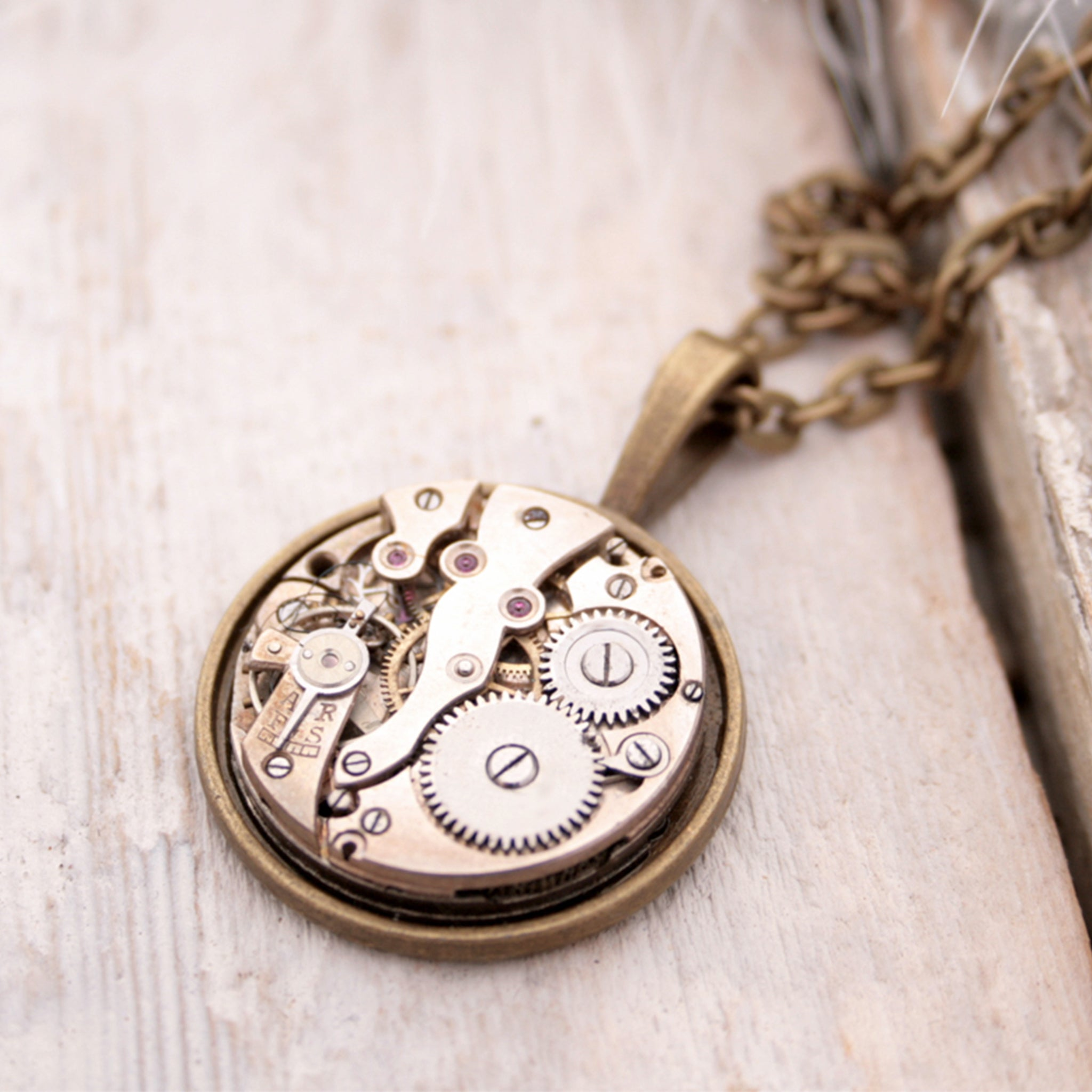 clock pendant necklace