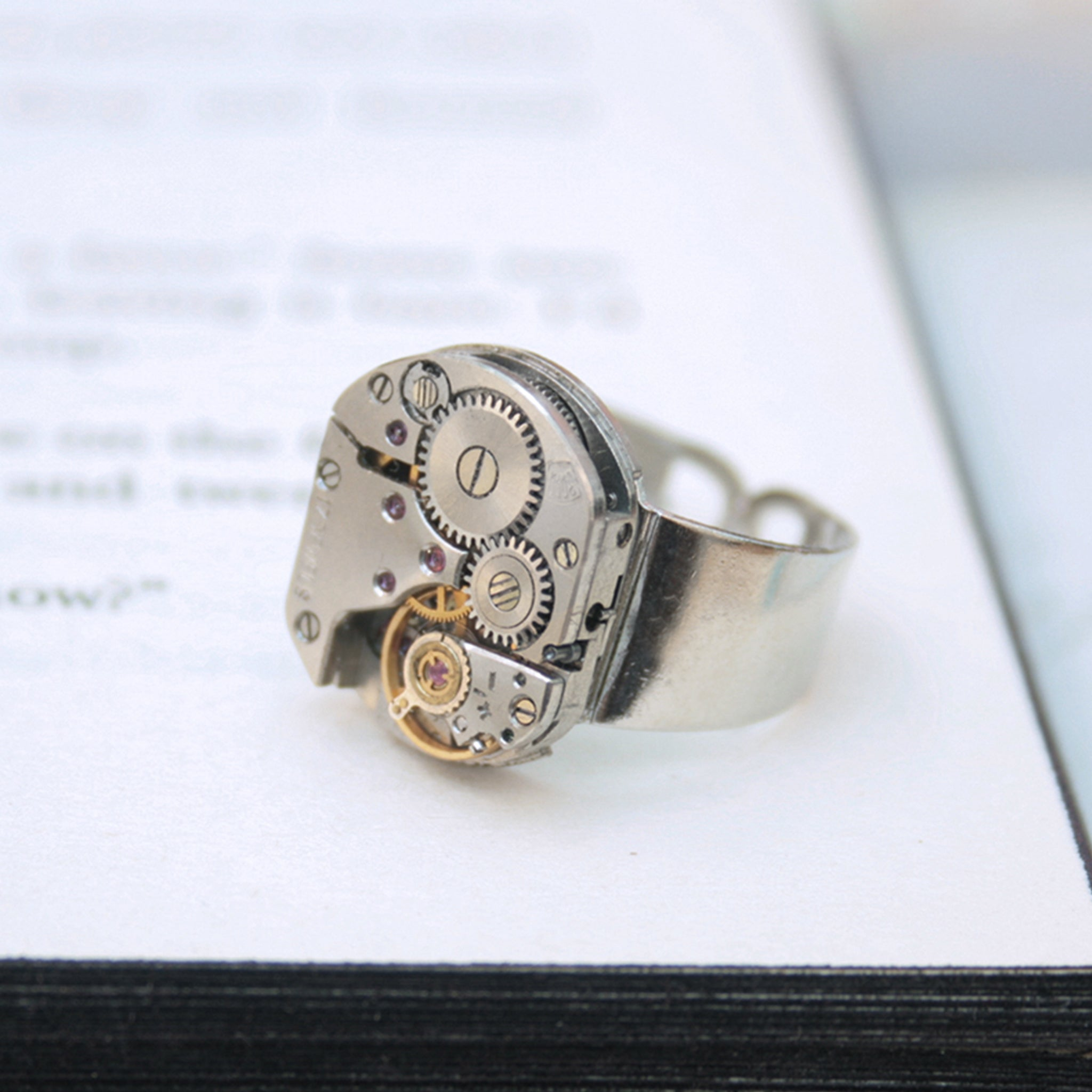 Mens Pinky Ring in Steampunk Style