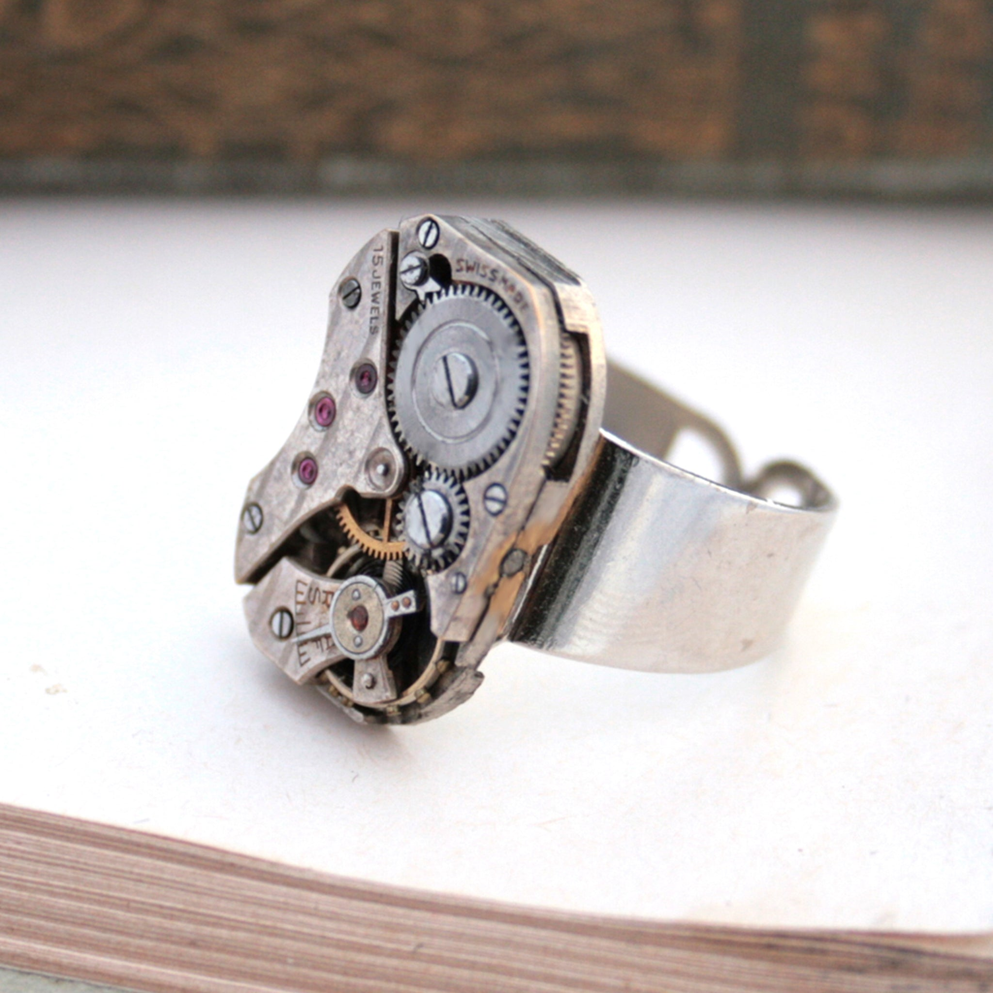 Signet Ring in Steampunk Style