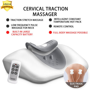 Remote Control Cervical Traction Massager (On/Off Heating)