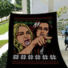 Woman yelling at cat meme blanket design 2 - GST