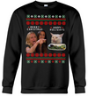 Woman yelling at a cat meme merry christmas vs happy holidays ugly christmas sweater - GST