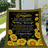 Sunflower blanket - To my daughter - Always remember