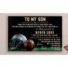 G-Football Poster - dad to son - never lose
