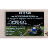 G-Lacrosse Poster - dad son - never lose LHD