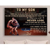 G-Wrestling Poster - Dad to son - never lose vs2