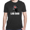 Gifts for dog lovers - Hashtag lab dad funny chocolate labrador dad shirt - GST