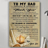 G-Baseball poster - Son to Dad - Thank you