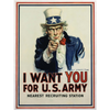 I want you for us army poster canvas - GST