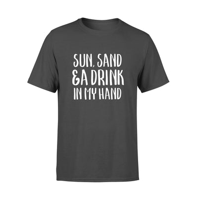 SUN SAND DRINK IN MY HAND,GIFTS FOR HUSBAND, HUSBAND SHIRT, HUSBAND GIFTS,  FATHER'S DAY GIFT , PLUS SIZE SHIRT