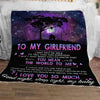 To my girlfriend you mean the world to me - Blanket - Perfect gifts for Girlfriends, valentine gift for girlfriend, valentine gift for her, best idea blanket gift for her