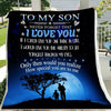 G-Baseball blanket - To my son - I love you, best gift for teen boys, birthday ideas for teen boys, birthday gift ideas for boys, good gifts for teen boys