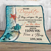 Mom to daughter - I love you forever and always turtle blanket, gifts for daughter, birthday gift for daughter, meaningful gift for daughter, turtle, turtle blanket, gift ideas for daughters - GST