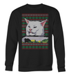 Angry women yelling a cat meme sweater couple sweater-GST