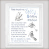 Walk alongside me and hold my hands daddy and me poster canvas - GST