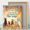 Champions Tee Peronalized dont cry for me dog mom poster canvas GST