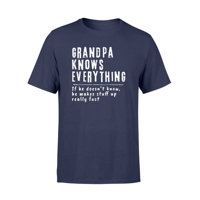 grandpa knows everything T shirt - Gifts for grandpa