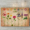 Champions Tee I am powerful flowerful poster canvas GST