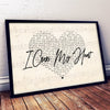 Personalized I cross my heart first song first dance couple gift poster canvas - GST