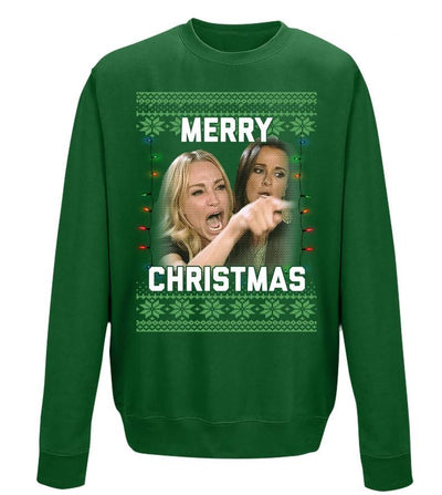 SALE TODAY: Woman Yelling At Cat Ugly Christmas Sweater, Red and Green Sweater