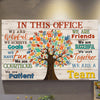 In this office we are a team inspiring motivation poster canvas - GST