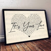 Custom it's your love poster canvas first dance song poster canvas - GST