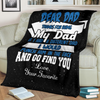 family blanket - dear dad THANKS FOR BEING MY DAD