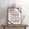 Personalized Hands Print Baseball Dad Poster Canvas - Dad Shirt